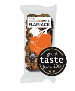 KendalJackSmiths Handmade Artisan Flapjack Pumpkin Seed and Orange